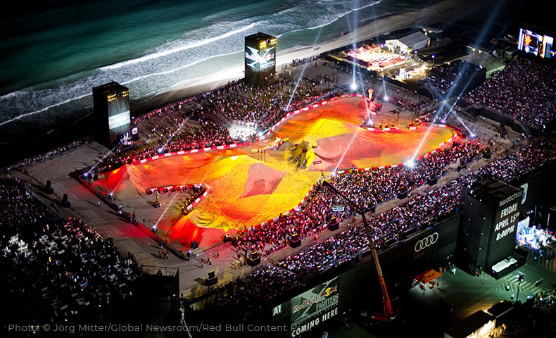 Red Bull X Fighters Arts Outdoor Lighting Technology